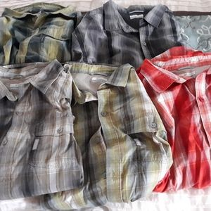 5 Columbia button up long sleeve shirts like new